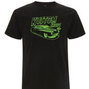 Kustom-Shops-T-Shirt-Men-Black-Cotton